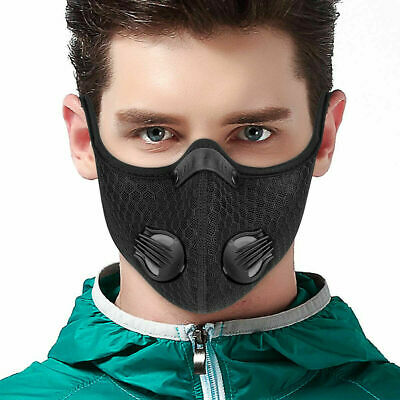 Outdoor Cycling Half-Face Cover Activated Carbon Respirator With filter