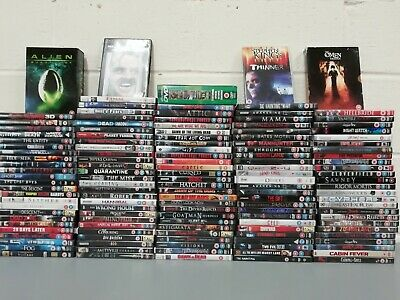 140 x Horror Films Dvds Job Lot Collection Stephen King Thinner Omen Jeepers Cre