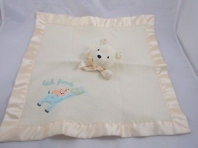 Carters Best Friends Teddy Bear Lovey Security Blanket Squeaks Stuffed Animal