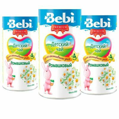 3X Bebi Infant Tea with Chamomile from 4 months each 200g/7oz