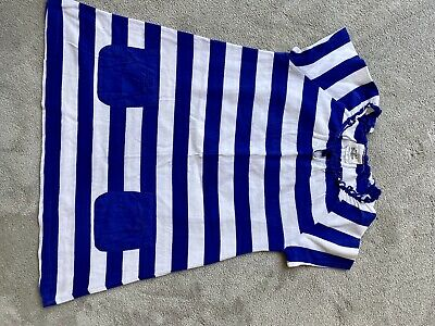 Girls Mini Boden Blue And White Stripped Dress Aged 7-8years