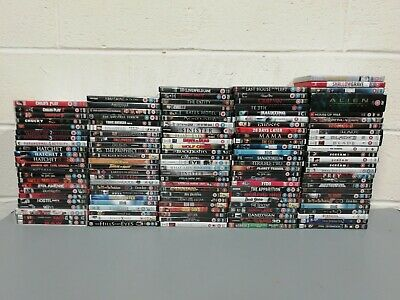 129 x Horror Films Dvds Job Lot Collection Halloween Saw 2-5 Child's Play Blade