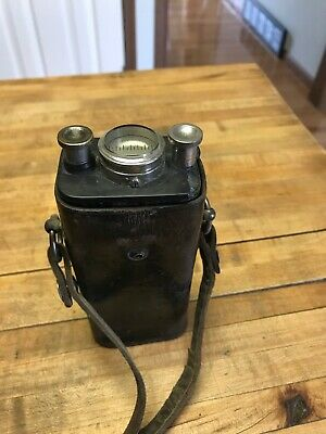 Vintage antique Detonator Tester blasting machine battery Leather Field Pack Amp