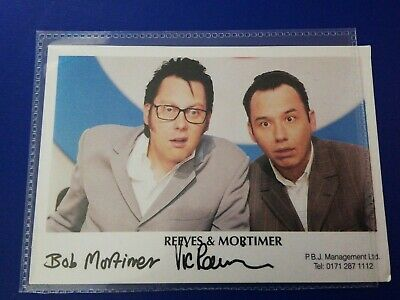 Reeves and Mortimer Signed Card