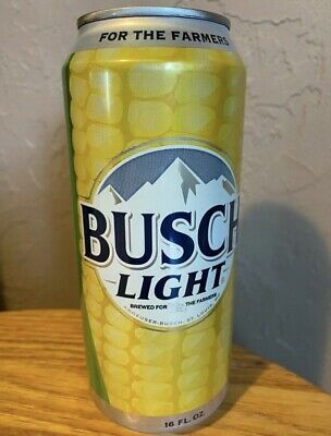 Busch Light Corn Can - For The Farmers - Limited Edition 16 oz