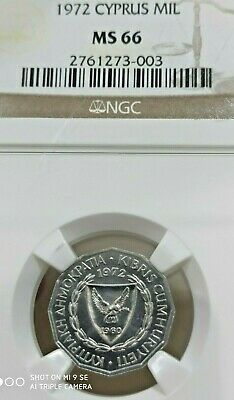 CYPRUS 1 Mil 1972 NGC MS66 - Uncirculated coin - Full Luster