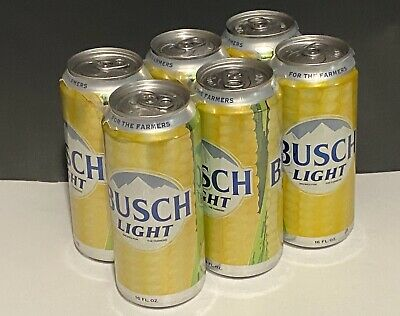 Busch Light Corn Can -For The Farmers-16 oz - 6 Pack