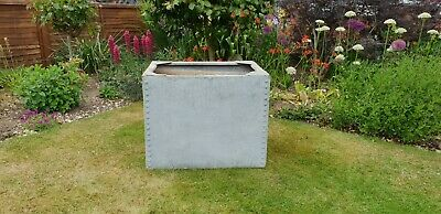Original Vintage Riveted Galvanised Steel Water Tank. Ideal as Garden Planter.