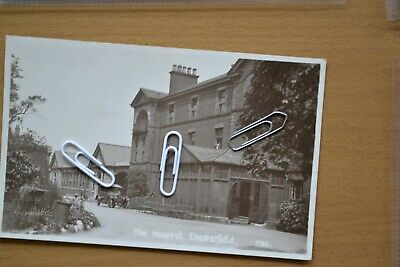 The Hospital, Chesterfield, Real Photographic Postcard.