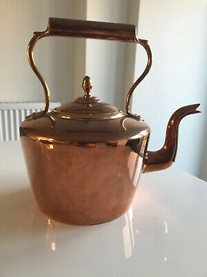 Antique Large Copper on Brass Kettle