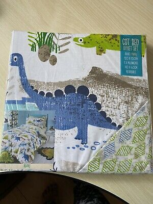 Dinosaur Cotbed Cover And Pillowcase