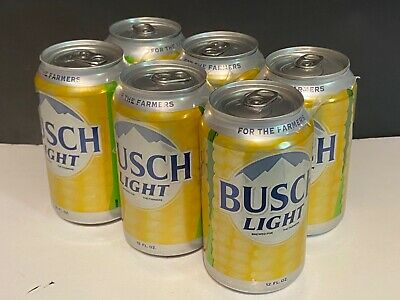 Busch Light Corn Can- For The Farmers 6 pack 12 oz
