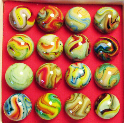 "Collector Box 16 JABO INDIAN SUMMER Marbles. Mint. Approx. 3/4""."