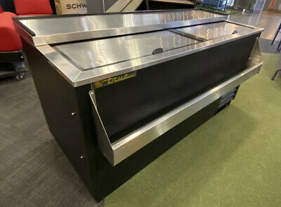 True TD-65-24 Commercial Slide Lid Deep Well Bar Bottle Cooler 2 Door MSRP$2500
