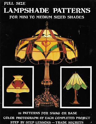 Lampshade Patterns for Mini to Medium Sized Shades Stained Glass Book 25 Designs