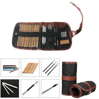 29 Pcs Professional Drawing Artist Kit Set Pencils Sketching Charcoal Art Tools
