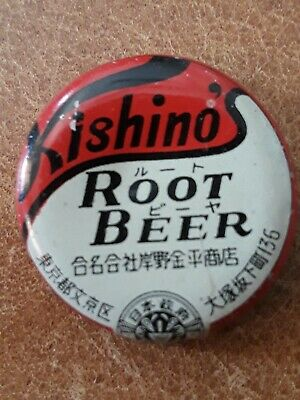 Old Kishino's Root Beer Soda Pop Bottle Cap Cork Japan