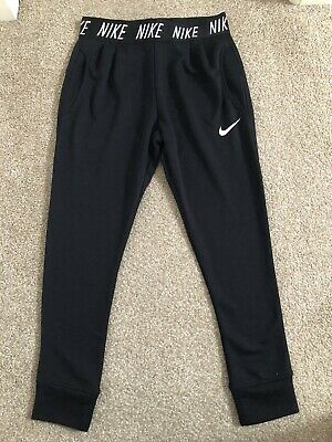 Nike Girls Black Jogging Trousers - Medium - Approx. 10-11 Years