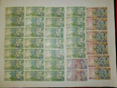 Romania 🎇 34 pieces poly banknote 96 Leu  🎇 Collections, lots