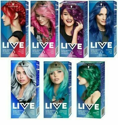Schwarzkopf Live Ultra Bright Or Pastel Hair Dye, Semi-Permanent Intense Colour