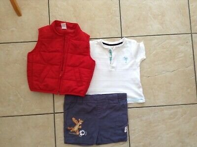 Baby boys 3 piece outfit 3-6 months next Disney river island