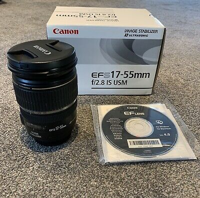 Genuine Canon EF-S 17-55mm f/2.8 IS USM Lens black - Boxed RRP £599.99