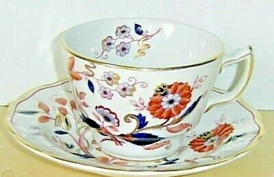 Antique BOOTH'S Staffordshire FRESIAN A8022 Tea Cup & Saucer FLAWLESS Cobalt WOW