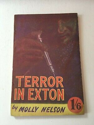 Terror In Exton by Molly Nelson - Syringe cover British pulp pb 1/6 1940's