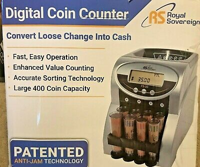 Royal Sovereign 2 Row Electric Coin Counter FS-2D, Anti-Jam