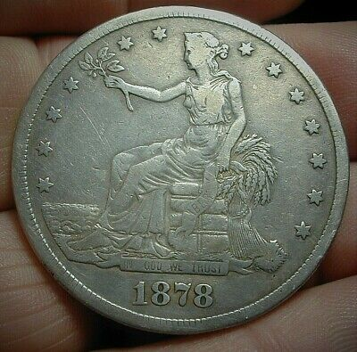 1878-S US Silver Trade Dollar VF Condition  Lot #C454