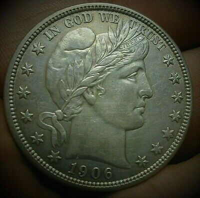 1906-D Barber Silver Half Dollar in a nice High Grade Condition  Lot #C456