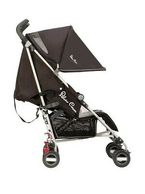 Silver Cross Zest Pushchair Stroller in Black - Excellent Condition