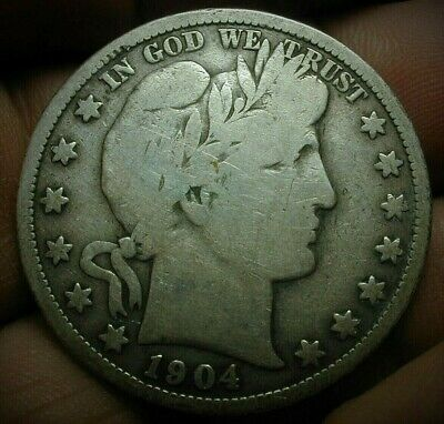 1904-S Key Date Barber Silver Half Dollar VG Condition  Lot #C461