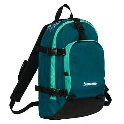 Supreme Backpack FW19 Blue Teal Pre-owned travel laptop ss19 school bag pouch