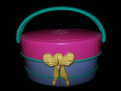 USED  Vintage Polly Pocket Light Up Fashion Show Hat Box 1995 (NO Dolls etc)