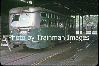 Streetcar Slide (Dupe): NYCTA Clark PCC Car, W. 5th St. Term., Coney Is. - 1955
