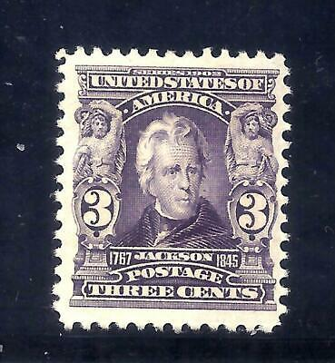 US Stamps - #302 - MH HR - 3 cent Jackson Issue - CV $55