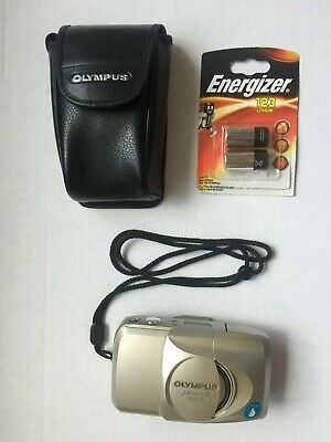 Olympus Mju II Zoom 170 35mm Point & Shoot Camera with case & new batteries