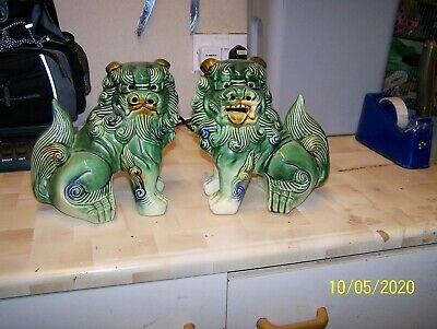 A Pair Of Vintage Chinese Oriental Foo Dogs