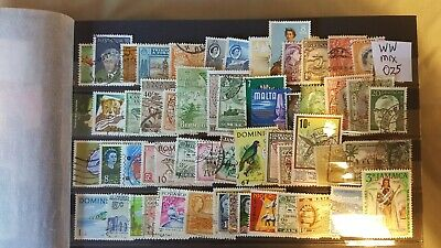 Worldwide Sorter Mix Attractive Selection  Of Un-Checked Used Stamps (025)