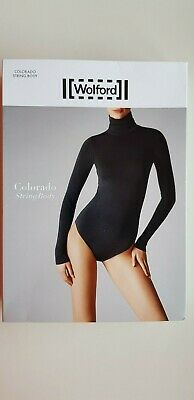 WOLFORD COLORADO STRING BODY bodysuit size L large in BLACK classic