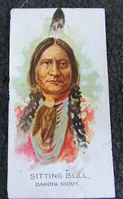 ORIGINAL 1900's SITTING BULL DAKOTA SIOUX INDIAN CHIEF TOBACCO TRADE CARD