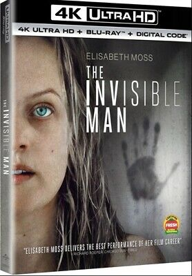 The Invisible Man [4K Ultra HD + Blu-Ray + Digital] BRAND NEW / Sealed!