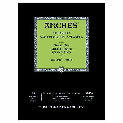 ARCHES WATERCOLOUR PAD - 185 gsm COLD PRESSED(MEDIUM) A4