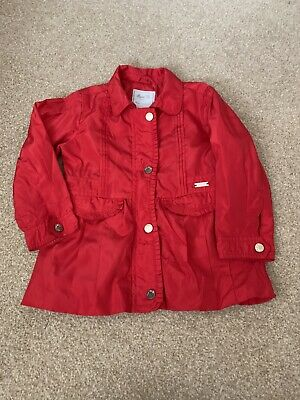 Girls Mayoral Red Summer Windbreaker Jacket Coat Age 3 Years