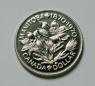 1970 CANADA Manitoba 100th Nickel Coin - One Dollar - UNC lustre (from mint set)