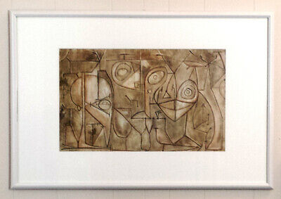 "Picasso Reproduction ""The Kitchen"" Acrylic Original Painting Framed & Matted"