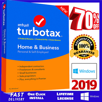 Intuit TurboTax Home & Business 2019 ⭐ Latest Version for Win⭐Fast Delivery⭐
