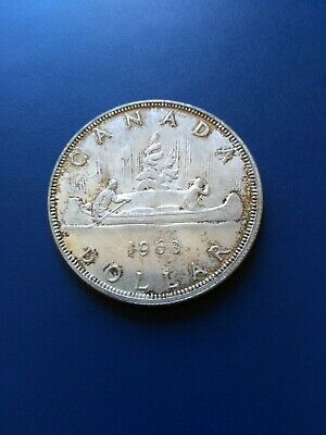 1963 Canadian Silver Dollar ($1), No Reserve!