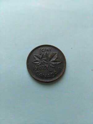 1947ML Uniquely Toned Canadian Small Penny (1c), No Reserve!
